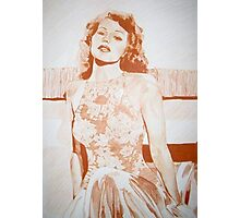Monochromatic Starlet - Rita Hayworth Photographic Print
