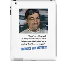 Produce For Victory -- World War 2 iPad Case/Skin