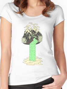 Levitating Island with a Source coming from nowhere Women's Fitted Scoop T-Shirt