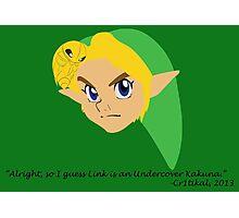 Undercover Kakuna (Ocarina of Time Corruptions) Photographic Print