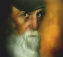 Watching Every Move ~ Painter Portrait by Carmen Holly