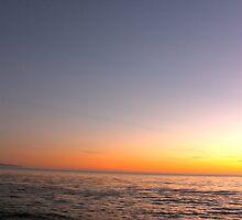 Santa Cruz - Half Moon Sunset by Sam Maule