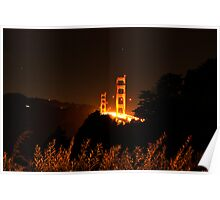 Golden Gate Night Poster