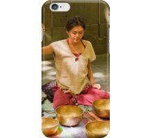 Playing Tibetan Singing Bowls iPhone Case/Skin