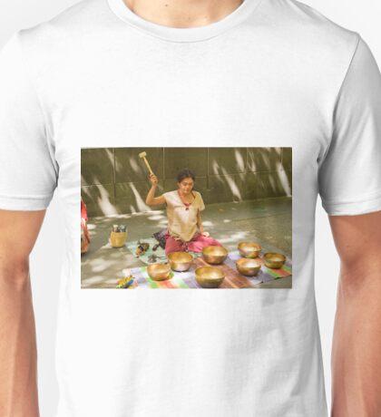 0462 Playing Tibetan Singing Bowls T-Shirt