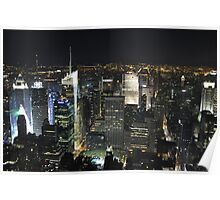 NYC shot in RAW from Empire States Building Poster