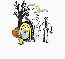 Halloween doodles slice of life skeleton ghost spider graveyard Unisex T-Shirt