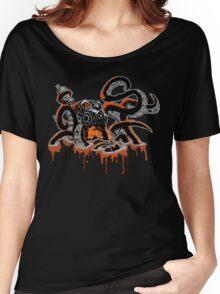 SFOCTOPUS: BLACK Women's Relaxed Fit T-Shirt