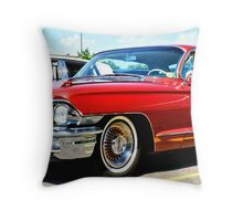 Red Classic Cadillac Throw Pillow