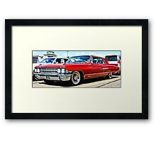 Red Classic Cadillac Framed Print