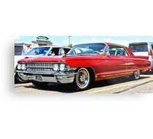 Red Classic Cadillac Metal Print