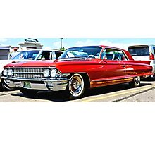 Red Classic Cadillac Photographic Print