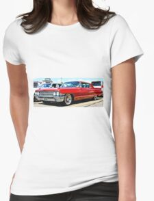 Red Classic Cadillac Womens Fitted T-Shirt