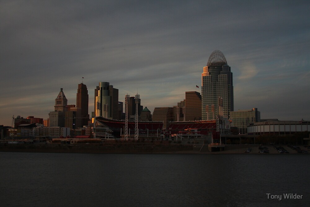 Cincinnati Skyline at Dusk by Tony Wilder