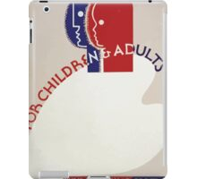 WPA United States Government Work Project Administration Poster 0336 Free Art Classes for Children and Adults iPad Case/Skin