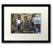 A Man's Shed Is His Home! Framed Print