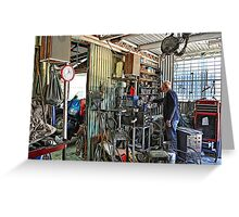 A Man's Shed Is His Home! Greeting Card