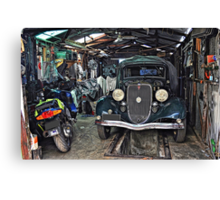 A Man's Shed! Canvas Print