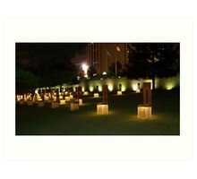 Memorial to the victims of the OKC Bombing Art Print