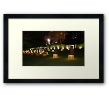 Memorial to the victims of the OKC Bombing Framed Print
