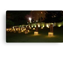 Memorial to the victims of the OKC Bombing Canvas Print