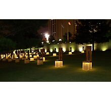 Memorial to the victims of the OKC Bombing Photographic Print