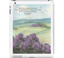 Mountain scene with scripture iPad Case/Skin