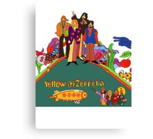 Yellow Zeppelin Submarine T-Shirt Canvas Print