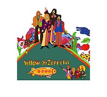 Yellow Zeppelin Submarine T-Shirt Photographic Print