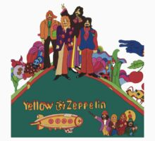 Yellow Zeppelin Submarine T-Shirt by greenrasta