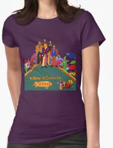 Yellow Zeppelin Submarine T-Shirt Womens Fitted T-Shirt