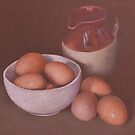 Jug and Eggs by Alan Stevens