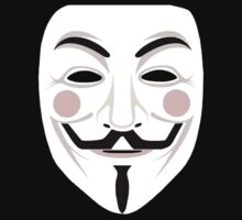 GUY FAWKES /  V for Vendetta / ANONYMOUS Mask Kids Clothes