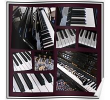 Black Beauty - Piano and Clarinet Collage Poster
