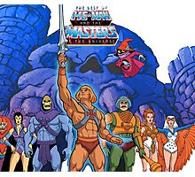 Heman 80's Cartoon Shirt Photographic Print