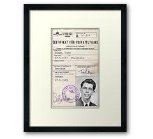 Privatflygcertifikat Framed Print