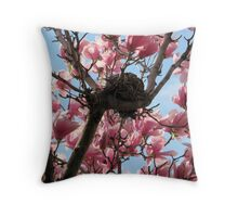 Nested in Pink Throw Pillow
