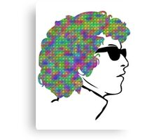 Psychedelic Bob Dylan T-Shirt Canvas Print