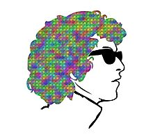Psychedelic Bob Dylan T-Shirt Photographic Print