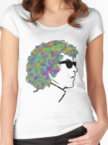 Psychedelic Bob Dylan T-Shirt Women's Fitted Scoop T-Shirt