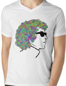 Psychedelic Bob Dylan T-Shirt Mens V-Neck T-Shirt