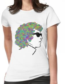 Psychedelic Bob Dylan T-Shirt Womens Fitted T-Shirt