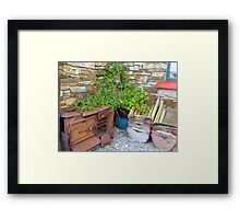 The Old Rusted Stove Framed Print