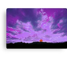 Purple Mountain Majesty (abstract) Canvas Print