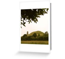 Glastonbury Tor Greeting Card