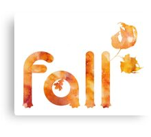 Fall Typography Canvas Print