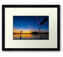Diving Sun Framed Print