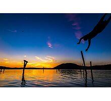 Diving Sun Photographic Print