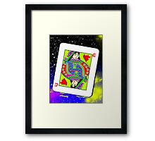 poker card Framed Print