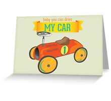 Vintage toy car print Greeting Card
